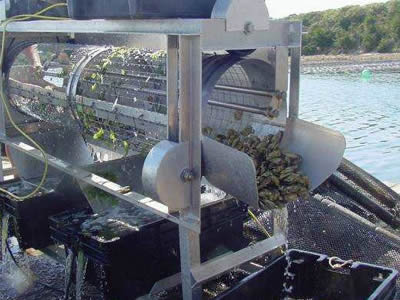 The machine is sorting oysters.